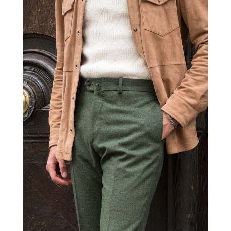 S2 / Classic Cut - Tweed - Holland & Sherry Flannel - Green