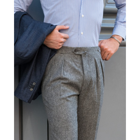 S4 / Two Pleats - Wool & Cashmere Tweed