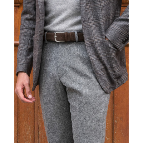 S2 / Classic Cut - Donegal Tweed Wool & Cashmere - Gris Moyen