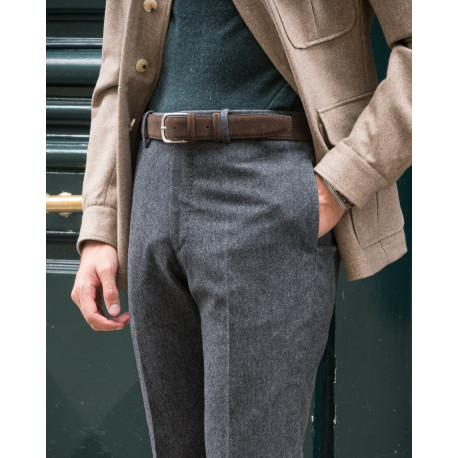 S2 / Classic Cut - Donegal Tweed Wool & Cashmere - Gris anthracite